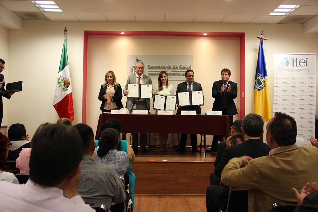 Firman convenio de colaboración ITEI y Secretaría de Salud Jalisco, fortalecerán lazos institucionales